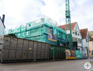 Die Johann-Philpp-Palm-Straße 22 im Bau.