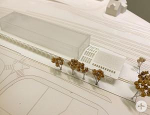 So könnte die neue Markthalle aussehen. Modell von Architekt Felix Stammler.