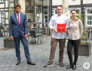 Die Auszeichnung mit dem Michelin Stern für das Gourmetrestaurant Nico Burkhardt.