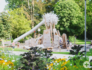 Der Spielplatz im Schorndorfer Stadtpark