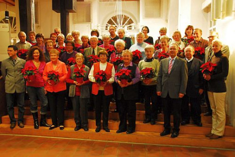 TeilnehmerInnen des Blumenschmuckwettbewerbs