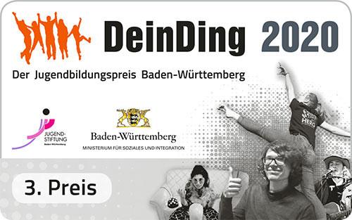 Siegel zum 3. Preis bei DeinDing 2020