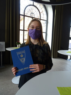 Vanessa Skwark mit dem Rotary Schülerpreis