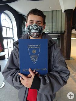 Maximilian Straub mit dem Rotary Schülerpreis
