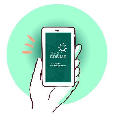 Grafik der RMK-COSIMA App auf einem Smartphone