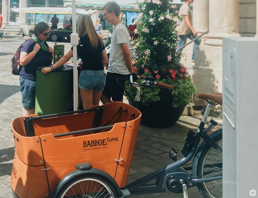 Der Stand von Schorndorf bringt´s auf dem Wochenmarkt
