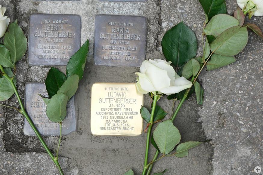 Der Stolperstein für Ludwig Guttenberger.