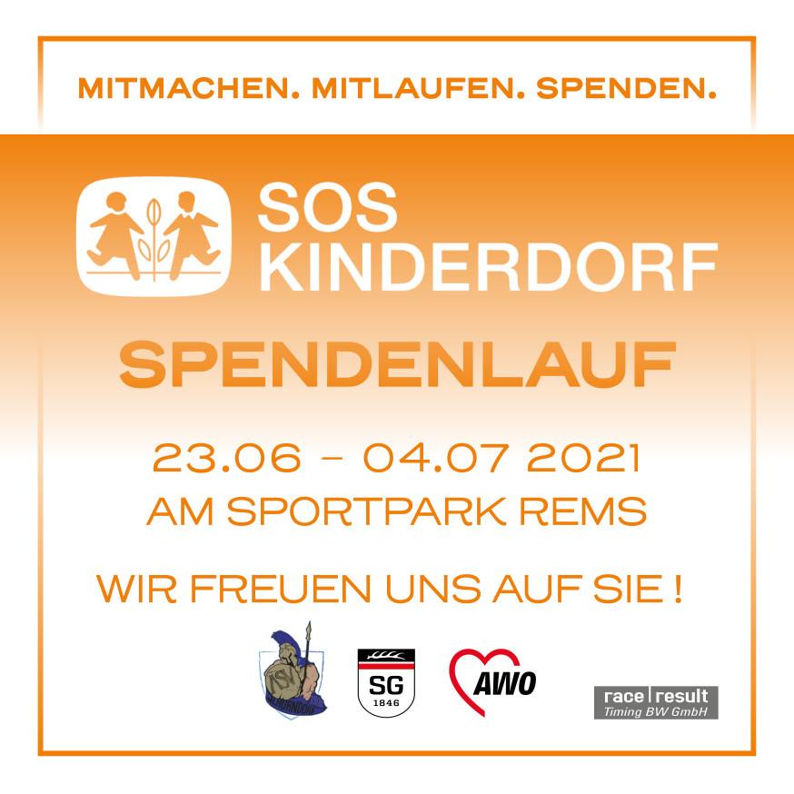 Plakat zum Spendenlauf