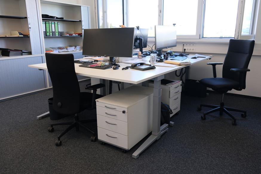 Die neue Büroeinrichtung des Fachbereichs Gebäudemanagement