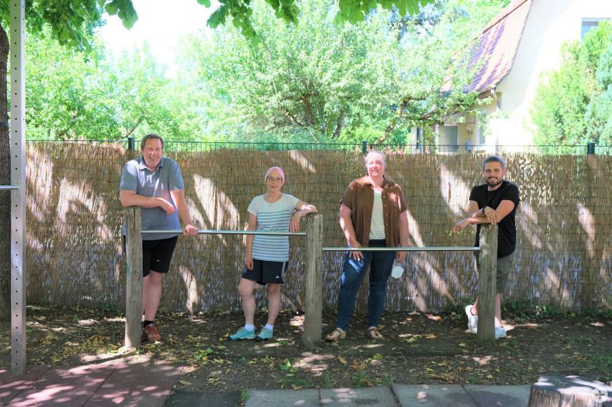 Von links: Wolfgang Holzwarth und Simone Vestner vom Jugendzentrum Hammerschlag sowie Iris Schaffer und Leonhard Dommberger vom Jugendhaus Altlache