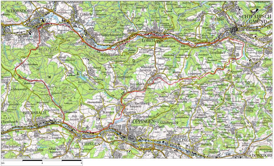 Plan Fahrradtour 65 Kilometer