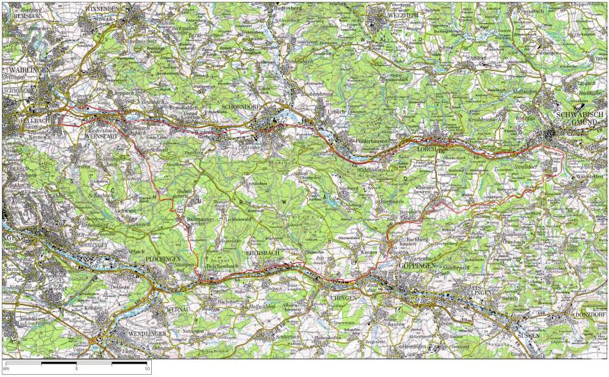 Plan Fahrradtour 100 Kilometer