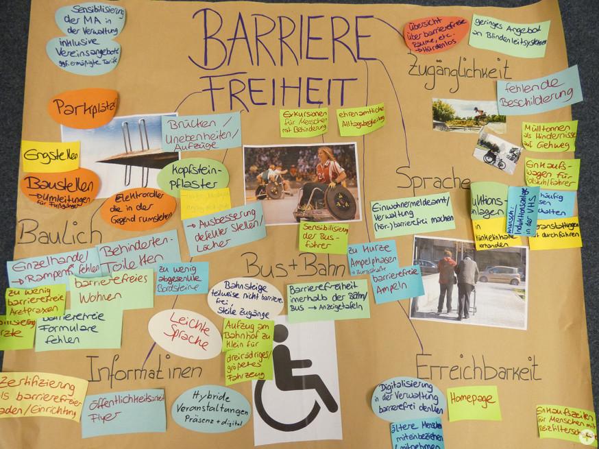Die zusammengetragenen Ideen zum Thema Barrierefreiheit