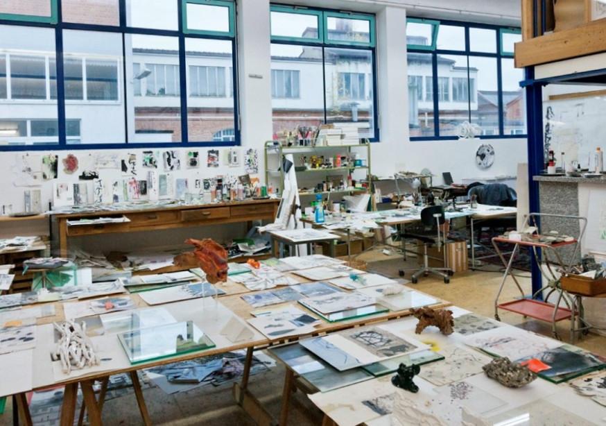 Einblick in das Atelier Kohlmann