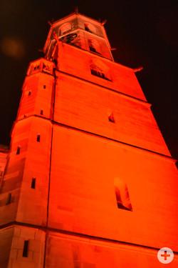 Schorndorfer Stadtkirche bei Nacht