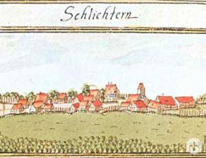Historische Ortsansicht Schlichten