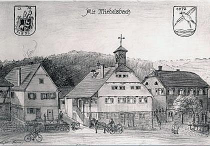 Historische Ortsansicht von Miedelsbach