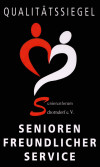 Logo Qualitätssiegel Seniorenfreundlicher Service
