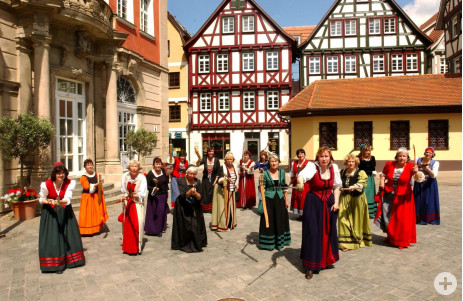Schorndorfer Weiber auf dem Schorndorfer Marktplatz